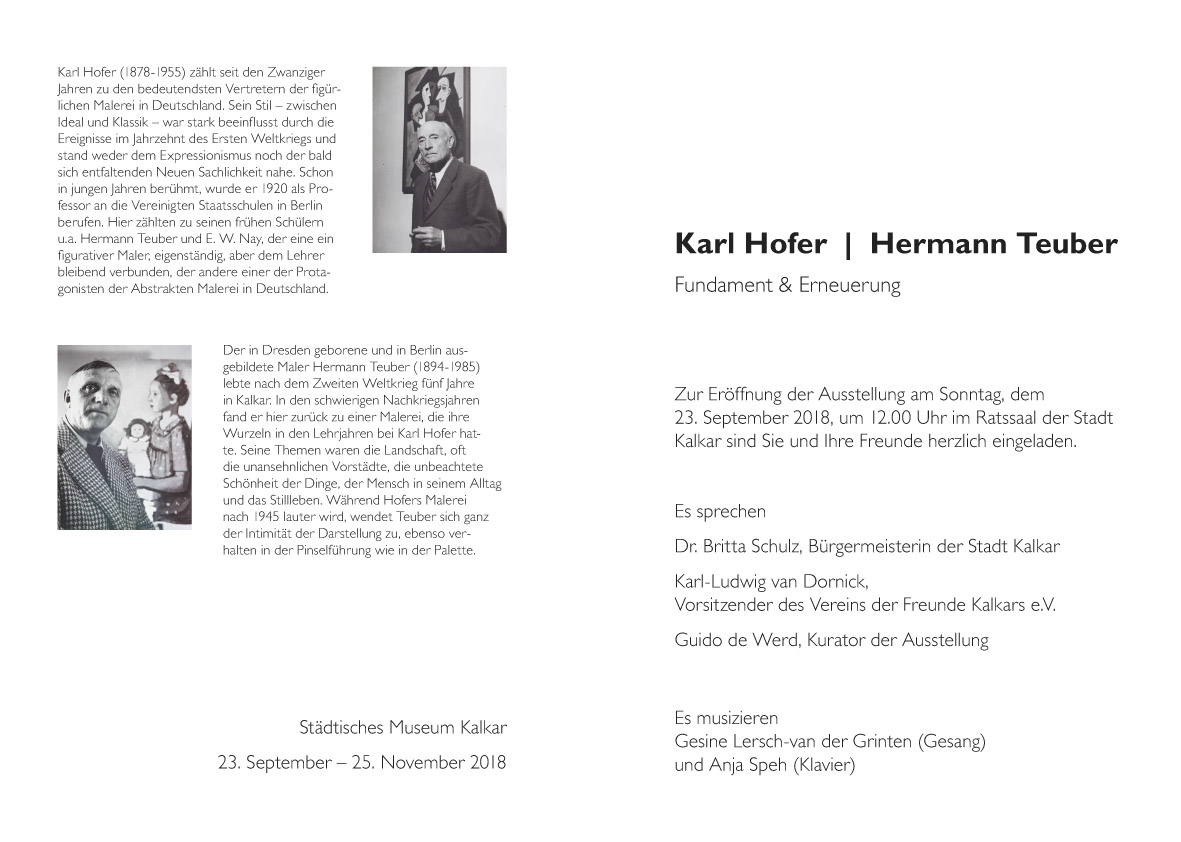 Einladung Ausstellung Hofer, Teuber, 2
