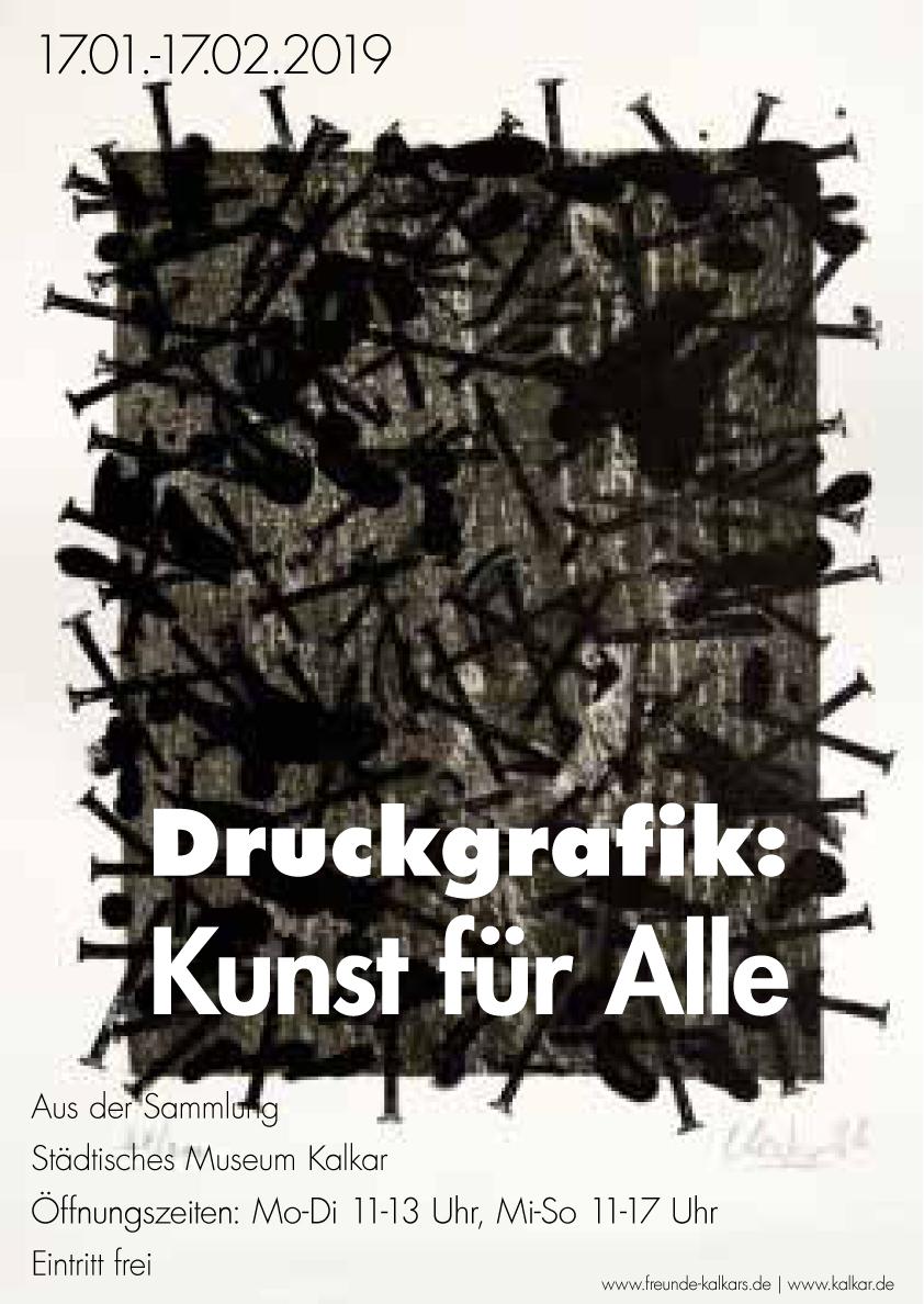 Plakat Ausstellung  Druckgrafik