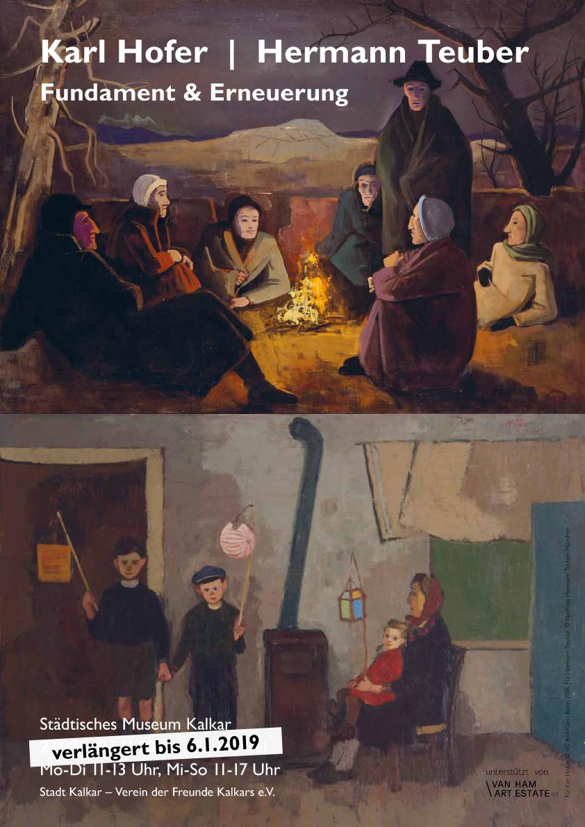 Plakat Ausstellung  Hofer-Teuber